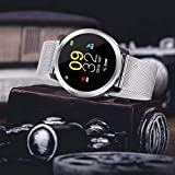 Smart Watch Fitness Tracker - Outdoor sport Color Full Screen ECG Display Blood Pressure Heart Rate Monitor IP68 Waterproof, Blood Pressure Monitor, Oxygen Monitor, Step Counter (D)