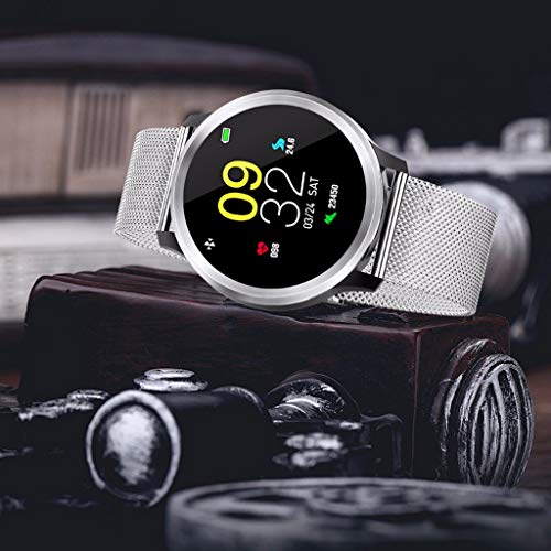 Smart Watch Fitness Tracker - Outdoor sport Color Full Screen ECG Display Blood Pressure Heart Rate Monitor IP68 Waterproof, Blood Pressure Monitor, Oxygen Monitor, Step Counter (D) (Advocate Wrist Blood Pressure Monitor Automatic Kd 726)