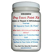 Whiteboard Paint / Coating 500ml / 16 oz Covers 48 Sq. Ft.