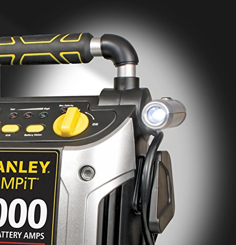 STANLEY J5C09 Power Station Jump Starter: 1000 Peak/500 Instant Amps, 120 PSI Air Compressor, Battery Clamps by STANLEY (Image #4)
