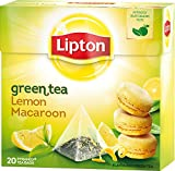 Lipton – Green Tea Lemon Macaroon – Premium Pyramid Tea Bags (20 Count Box) [PACK OF 3] For Sale