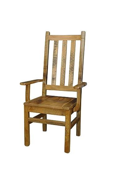 Amazon.com: Juego de 2 sillas rústicas de madera de granero ...