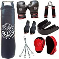 Byson Hi-Tech,s Boxing kit set for Men And Adult(3 Feet Long and Strong Synthetic Leather Professional Punching Bag WithBoxing Gloves, Focus Pad, chain, Hand Wrap Glove,Mouth Guard,Hand Grip)Heavy bag