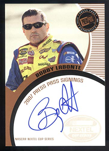 2007 Press Pass Signings #38 Bobby Labonte On Card Autograph