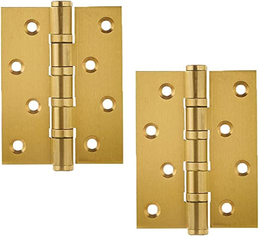 Home Furniture Hardware Cabinet Closet Door Drawer Door Hinge Screws 100mm Color : Red Bronze, Size : 4 inches MUMA 1 Pairs Stainless Steel Folding Butt Hinges 4 Inch