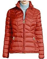 MICHAEL Michael Kors Chevron-Quilted Packable Down Jacket