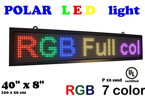 LED RGB 7 color sign 40' x 8' with high resolution P10 and new SMD technology. Perfect solution for advertising