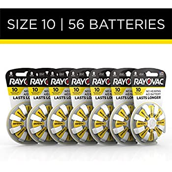 Rayovac Hearing Aid Batteries Size 10 for Advanced Hearing Aid Devices ,56 Count