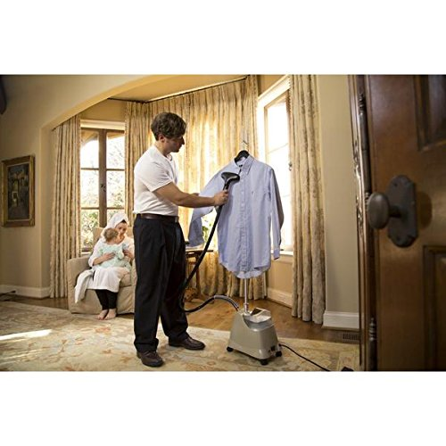 Bring the quality of professionally steamed clothes into your home with this Jiffy J-2000 Beige Garment Steamer (New)