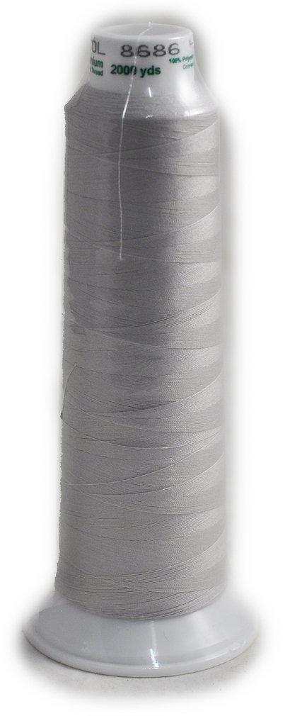 Madeira Poly Silver 2000YD Serger Thread 91288686