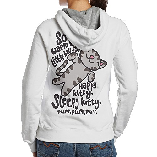 White Kitty Hoodie Hat (UFBDJF20 The Big Bang Theory Soft Kitty Fleece Sweatshirt For Women XL White)