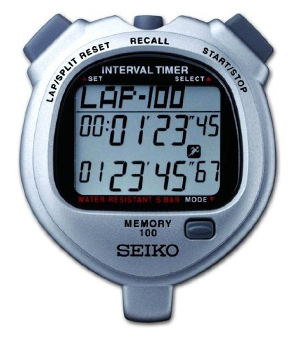 Seiko Timers 100 Lap Memory Stopwatch for Interval - Stopwatch Dual Memory