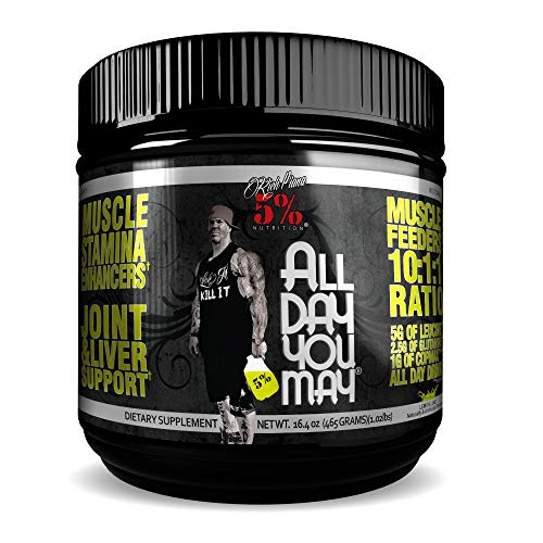 (Rich Piana 5% Nutrition All Day You May BCAA & Joint Recovery Drink (Lemon-Lime) 17.2oz (465g) 30 Servings)