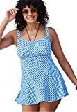 Woman Within Women's Plus Size Gingham Swimdress by Fit4u Blue Gingham,18 W