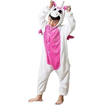Einhorn Einteiler Kind Kinder Tier Pyjama Outfit Halloween-Kostüm ...