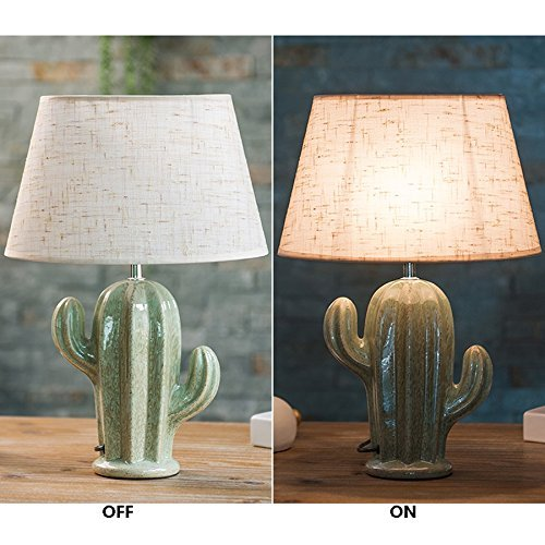 Cactus Lamp Table Lamp Home Decoration Cactus Decor Simple Design Desk Lamp for Living Room Bedroom,with Bulb by Dengbaba (Image #5)