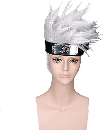 Wigs Animación Hombres de Naruto Kakashi Peluca Corta Gris con ...