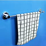 Yomiokla Bathroom Accessories - Kitchen, Toilet, Balcony and Bathroom Metal Towel Ring suction power single lever towel 53cm