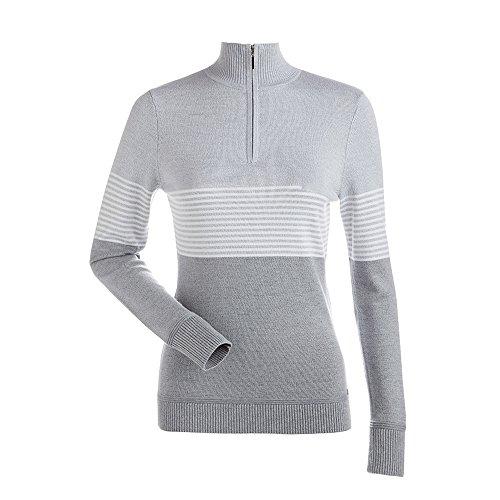 NILS Women's Riley Chest Stripe 1/4 Zip T-Neck Sweater