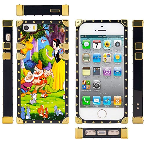 DISNEY COLLECTION Snow White Wallpapers Case Cover Fit Apple iPhone 5S | iPhone 5 | iPhone SE 5.5 Version (Best Wallpaper For Iphone 5 White)