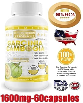 Garcinia Cambogia 100% Pure 1600mg 95% HCA Ultra Livewell USA