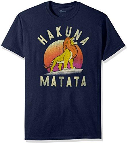 Disney Mens Lion King Simba Pride Hakuna Matata Warrior Graphic T-Shirt