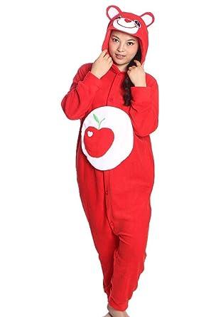 wotogold Cosplay disfraz animal manzana oso Onesies Unisex adulto ...