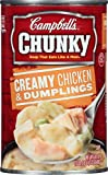 Campbell's  Chunky  Creamy Chicken & Dumpling Soup takes the comforting southern classic to new levels through big fill-you-up flavors and high-quality, hearty ingredients. Loaded with big pieces of premium chicken, comforting spaetzle du...
