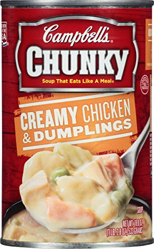 Dumpling Soup (Campbell's Chunky Soup, Creamy Chicken & Dumplings, 18.8 Ounce (Pack of 12) (Packaging May Vary))
