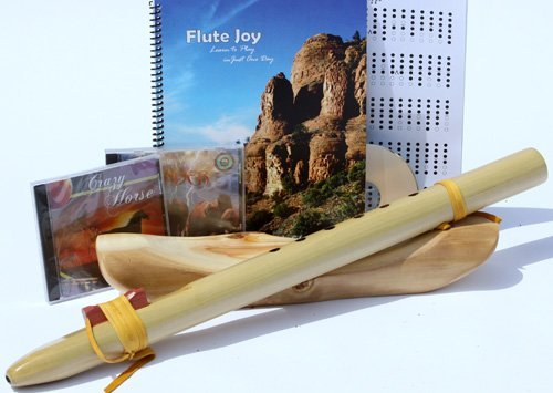 Native American Style Key of A, 6-hole Poplar Native American Style Flute, Book & 3 Cds Starter Set (Retail Value $109.95) - Books and Cds