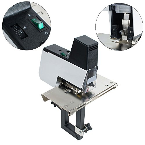 Pevor Book Binding Machine, Heavy Duty Desktop Saddle Stitcher Electric Auto Rapid Stapler Flat Saddle Binder Machine for Office, 2-50 Sheets 110V