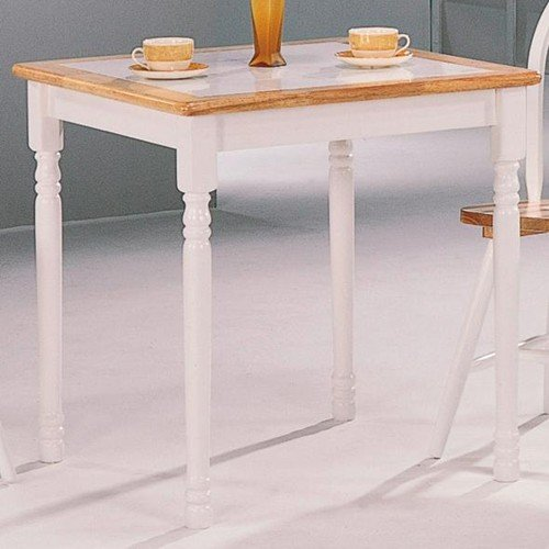 Coaster Home Furnishings Country Dining Table, Natural and White - Brown Country Dining Table