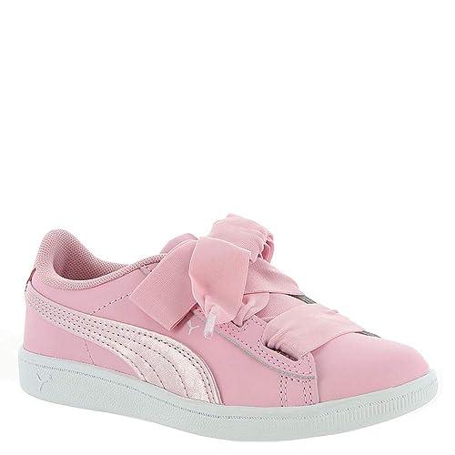 c2403f3987 Amazon.com | PUMA Vikky Ribbon L Satin AC PS Girls' Toddler-Youth ...