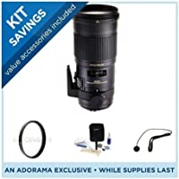 Sigma 180mm f/2.8 EX DG OS HSM APO Macro Lens for Sony Cameras - Bundle - with Pro Optic Pro Digital 86mm MC UV Filter, Flashpoint CapKeeper CK-2 & Adorama Cleaning Kit for Optics & Cameras
