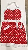 minnie chef - Disney Parks Minnie Mouse Full Chef Apron Red White Polka Dots Ruffles NEW