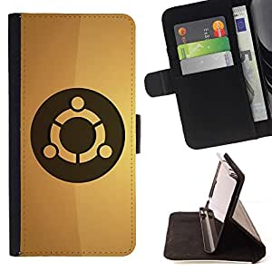 BETTY - FOR LG G2 D800 - Ubuntu Linux - Style PU Leather Case Wallet Flip Stand Flap Closure Cover