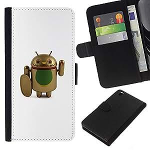 For HTC DESIRE 816 Case , Fighter Cure Artificial Cartoon - la tarjeta de Crédito Slots PU Funda de cuero Monedero caso cubierta de piel