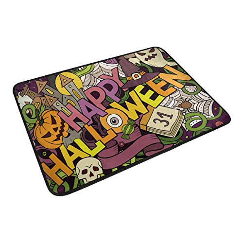Halloween Pumpkin Ghost Home Decor Non-slip Doormat Floor Do
