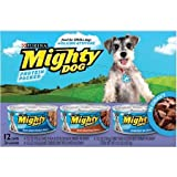 Purina Mighty Dog Small Food Variety Pack 12-5.5 oz. Cans, includes 3 each: Thick-Sliced Chicken Dinner, Thick-Sliced Beef Dinner, and Tenderloin Tips Flavor