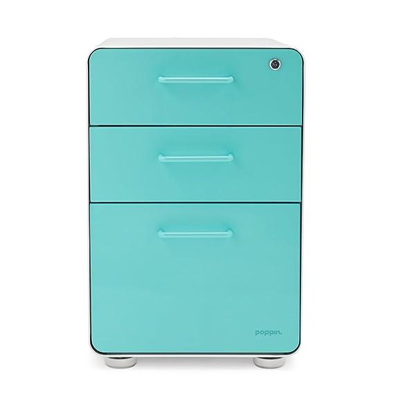 Poppin - Mueble archivador con tres cajones: Amazon.es: Oficina y papelería