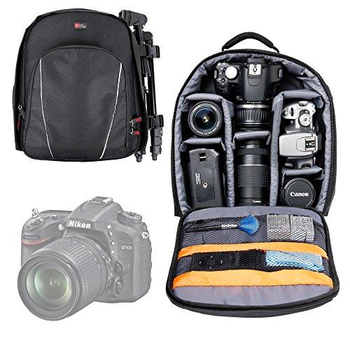DURAGADGET All-Weather Black SLR Camera Rucksack For Nikon D