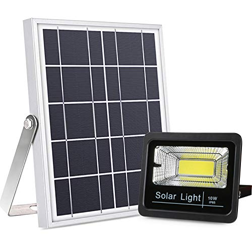 Updated Version Solar Flood Lights Dusk to Dawn, 800 Lumen Multi Working Modes Remote Control Solar Powered Security Light Outdoor Waterproof for Yard, Pool, Barn, Street, Driveway, Deck, Farm, Patio