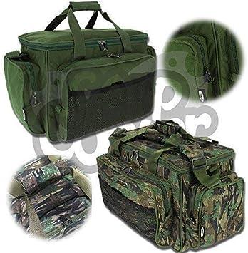 Karpfen Angel Zubeh/ör Carry All Tasche Mit Isoliert Futter In Camo Und Gr/ün