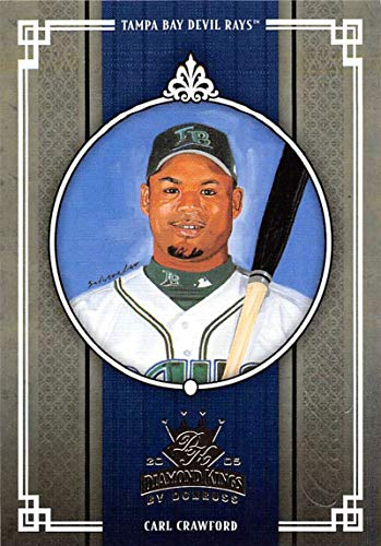 Tampa Crawford Carl Bay - 2005 Donruss Diamond Kings Challenge Baseball #221 Carl Crawford Tampa Bay Devil Rays Official MLB Trading Card From Playoff
