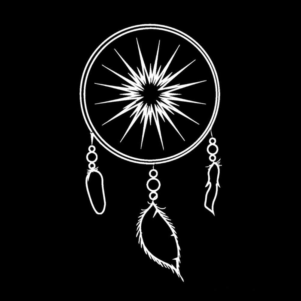 MCTYLI 14 25.1CM Beautiful Dream Catcher Dreamcatcher FEATHER Decals Vinyl Car Stickers Black//Silver