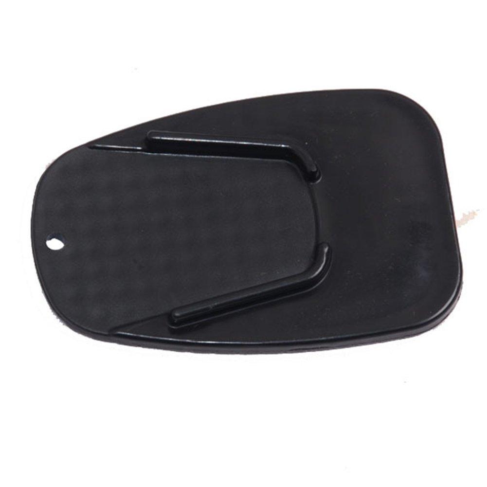 Moto B/équille plate noir moto universel c/ôt/é support de stationnement antid/érapante stabilit/é Pad pour moto Yamaha Honda Harley