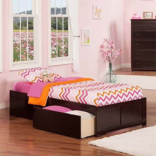 Leo Lacey Twin XL Storage Platform Bed