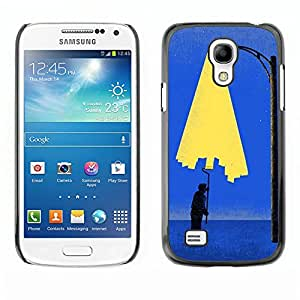 Shell-Star Art & Design plastique dur Coque de protection rigide pour Cas Case pour SAMSUNG Galaxy S4 mini VERSION! / i9190 / i9192 ( Painting City Light Wall Street Art Lamp Post )