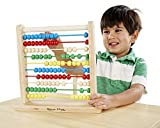 Melissa & Doug Abacus - Classic Wooden Educational Counting Toy With 100 Beads