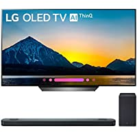 LG 65 Class B8 OLED 4K HDR AI Smart TV 2018 Model (OLED65B8PUA) with LG 5.1.2-Channel Hi-Res Audio Soundbar with Dolby Atmos